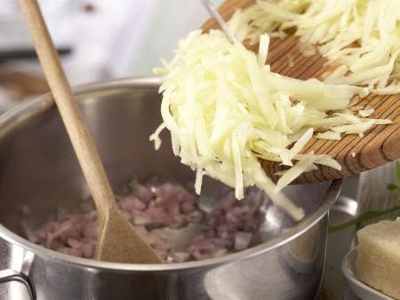 Rucola-Cremesuppe: Zubereitungsschritt 2