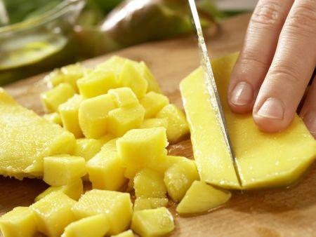 Rucola-Mango-Salat: Zubereitungsschritt 2