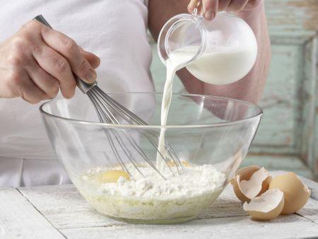 Rucola-Pfannkuchentorte: Zubereitungsschritt 1