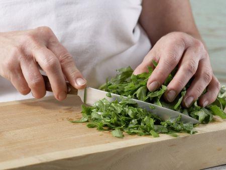 Rucola-Pfannkuchentorte: Zubereitungsschritt 2