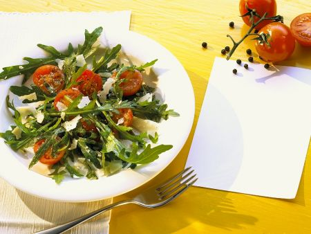 Rucola-Tomatensalat