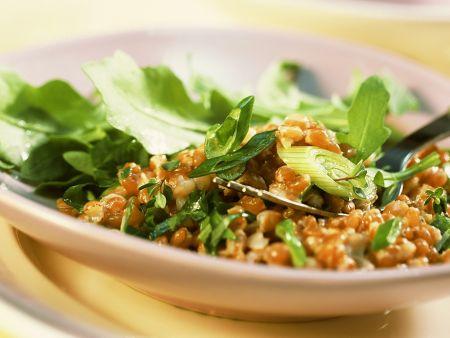 Rucolasalat mit Weizen