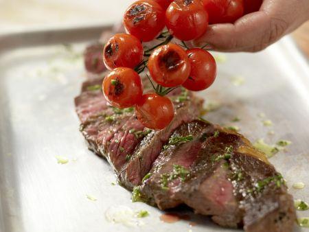 Rumpsteak mit Tomaten: Zubereitungsschritt 8