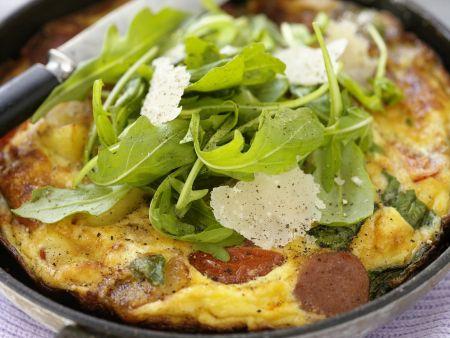 Rustikales Omelett mit Rucola