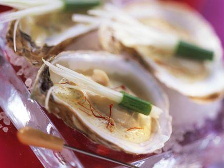 Safran-Austern mit Lauch