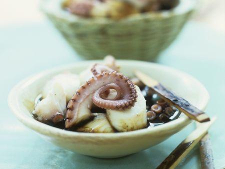 Salat aus Oktopus