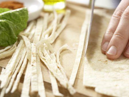 Salat mit Chili-Huhn: Zubereitungsschritt 1