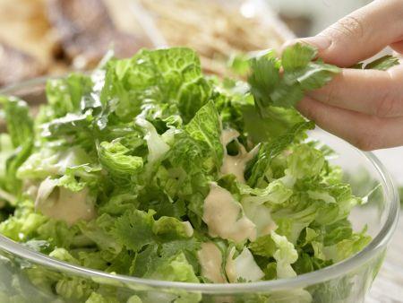 Salat mit Chili-Huhn: Zubereitungsschritt 8