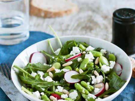 salat mit bohnen rucola und radieschen rezept eat smarter. Black Bedroom Furniture Sets. Home Design Ideas