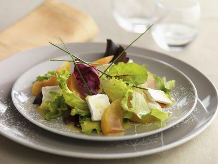 Salat mit Brie und Zwetschgen