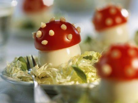 Salat mit Glückspilz