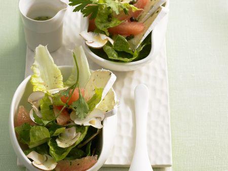 Salat mit Grapefruit und Weichkäse