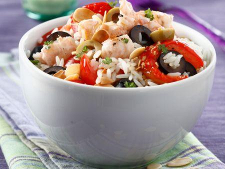 salat mit reis garnelen und oliven rezept eat smarter. Black Bedroom Furniture Sets. Home Design Ideas