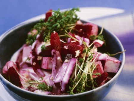 Salat mit Tofu und Rote-Bete