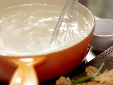 Salat mit pochiertem Ei und Lachsschinken: Zubereitungsschritt 6