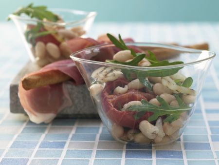Salat von weißen Bohnen