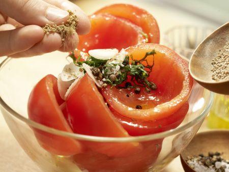 Salat von weißen Bohnen: Zubereitungsschritt 9
