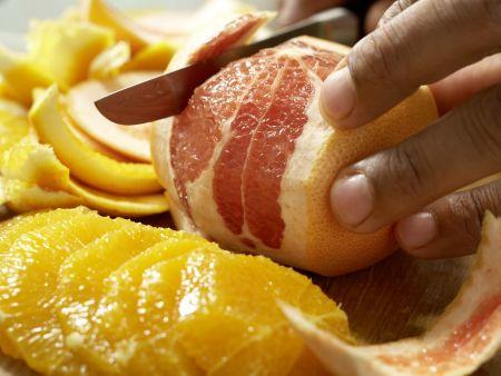Salatschüssel mit Fenchel: Zubereitungsschritt 1