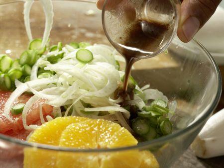 Salatschüssel mit Fenchel: Zubereitungsschritt 4