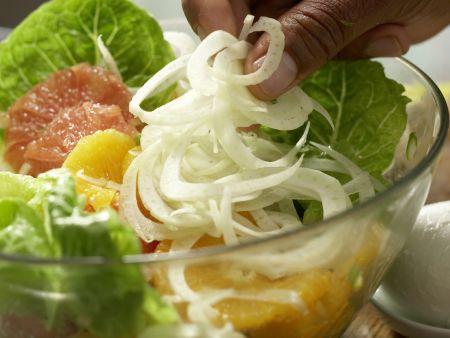 Salatschüssel mit Fenchel: Zubereitungsschritt 6