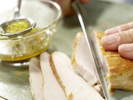 Salatschüssel mit Räucherhähnchen: Zubereitungsschritt 12