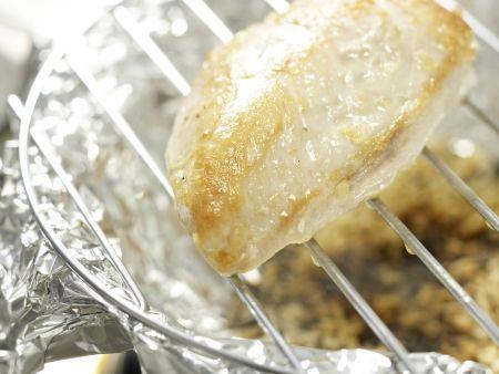 Salatschüssel mit Räucherhähnchen: Zubereitungsschritt 4