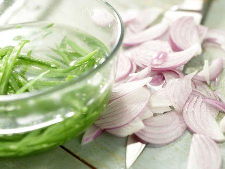 Salatschüssel mit Räucherhähnchen: Zubereitungsschritt 8