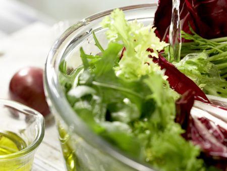Salatteller mit Nashi, Schafskäse: Zubereitungsschritt 1