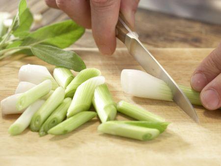 Salbei-Gemüse-Gnocchi: Zubereitungsschritt 1