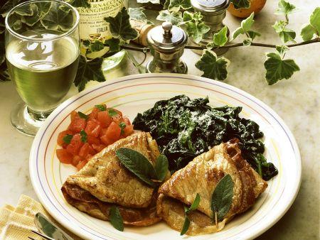 Saltimbocca mit Spinat