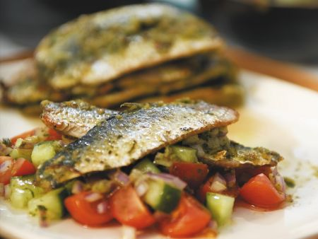 Sardinen auf Salsa mit Chermula