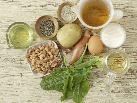 Sauerampfer-Cremesuppe: Zubereitungsschritt 1