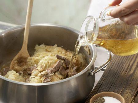 Sauerkraut-Filet-Topf: Zubereitungsschritt 5