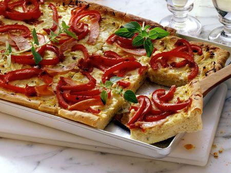 Sauerkrautkuchen mit Paprika