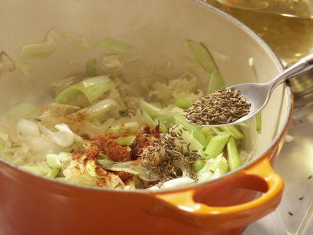 Sauerkrautsuppe: Zubereitungsschritt 5