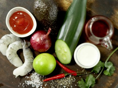 Scharfe Garnelen auf Avocadocreme: Zubereitungsschritt 1