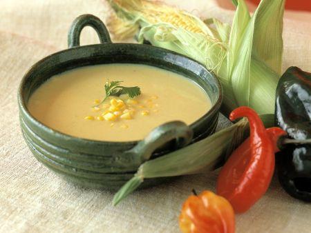 Scharfe Mais-Kartoffelsuppe