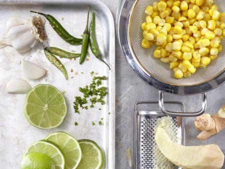 Scharfe Maissuppe: Zubereitungsschritt 2
