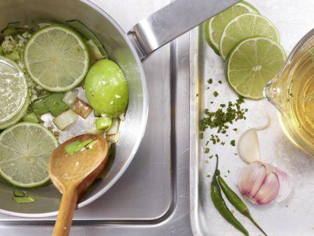 Scharfe Maissuppe: Zubereitungsschritt 4