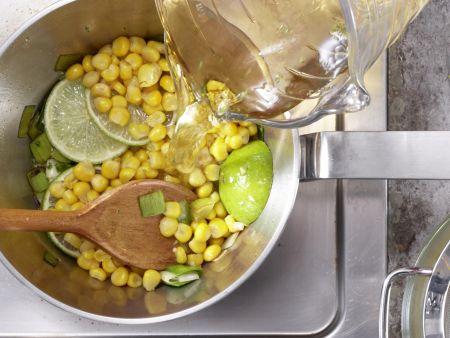 Scharfe Maissuppe: Zubereitungsschritt 5