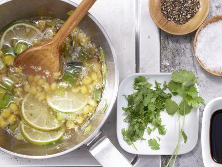 Scharfe Maissuppe: Zubereitungsschritt 6