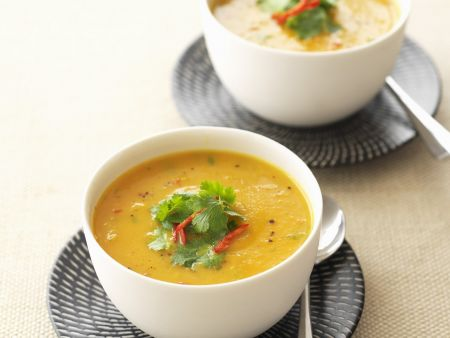 Scharfe Möhren-Ingwer-Suppe