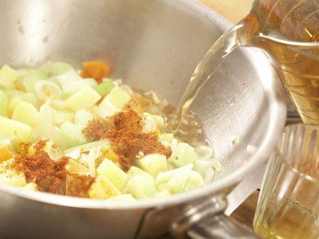 Scharfe Muschelsuppe: Zubereitungsschritt 8