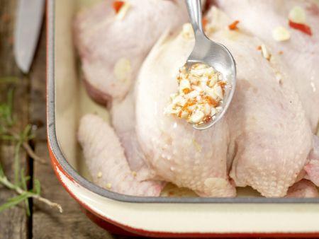 Scharfes Hähnchen: Zubereitungsschritt 8
