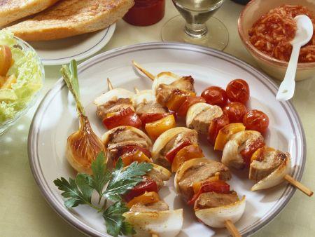 Rezept: Schaschlik-Gemüse-Spieße
