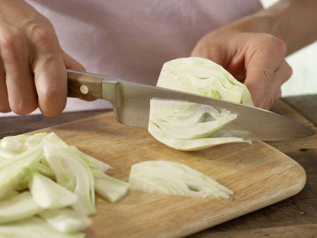 Schaumomelett mit Blattspinat: Zubereitungsschritt 1