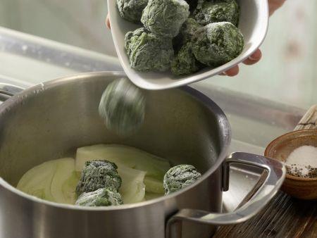 Schaumomelett mit Blattspinat: Zubereitungsschritt 3