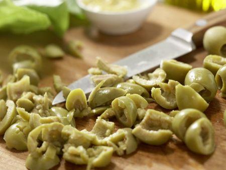 Schinken-Käse-Salat: Zubereitungsschritt 1