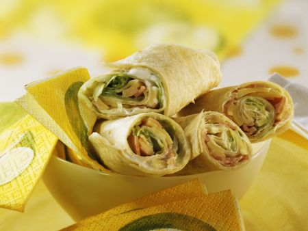 Rezept: Schinken-Käse-Wraps