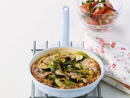 Rezept: Schinkenomelett mit Gemüse